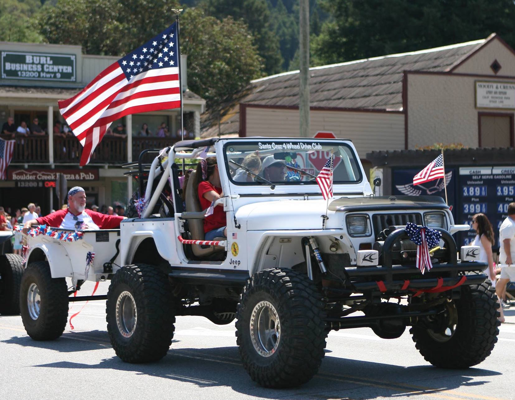 Eli Casey at 4th of July Parade in Scotts Valley